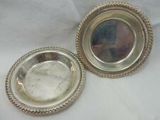 Vintage Sterling Silver Individual Butter Dishes, Twisted Cable Detail, QE15