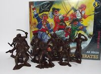 Russian recast of Marx toy soldiers. Caribbean pirates. 1/32 scale.