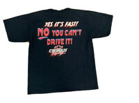 VTG Chevrolet Racing Double Sided T Shirt Size Men's Large