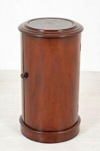 Victorian Pot Cupboard - Cylindrical Antique Mahogany 1860