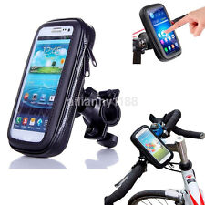 Waterproof Bike Bicycle Motorcycle Handlebar Mount Holder Case For Cell Phone US