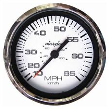 """Marpac Marine Speedometer with Stainless Steel Bezel 3 3/8"""" - 15-65 MPH - 7-1982"""