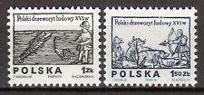 Poland - 1974 Definitives wood carvings - Mi. 2350-51 MNH