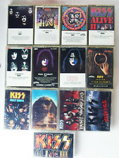 KISS 13 Cassette Tape Lot, Destroyer, Rock And  Roll Over, Dynasty, MORE, Tested