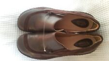 womens 9 Clarks Artisan Collection leather upper casual shoes brown