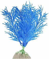 "TETRA GLOWFISH GLOW PLANT 6"" MEDIUM BLUE ORNAMENT GLO EFFECT. FREE SHIP IN USA"