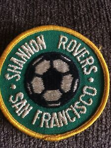 Shannon Rovers Soccer Association Team Club San Francisco Calif; 1980's Patch⚽️