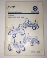 Ford New Holland 3430, 3930, 4630, 5030 Tractors Oem Operators Manual. 6/96.