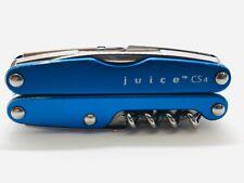 LEATHERMAN JUICE CS4 MULTI-TOOL BLUE VERY GOOD CONDITION RETIRED