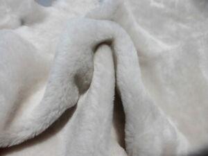 Nappa sheepskin leather hide Bone White Dense Silky Hair w/Eggshell smooth back