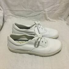 KEDS LEATHER WHITE CASUAL SNEAKERS BOAT SHOES - SIZE 9 WOMEN`S