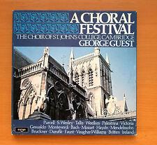 ARGO D112D 3 A Choral Festival St John's Coolege George Guest 3xLP Box Set NM/VG