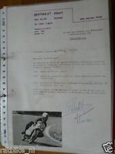 HT084-ORIGINAL AUTOGRAPH ALBERT BERTHOLET 50CC KREIDLER,SIGNATURE,AUTOGRAMM,