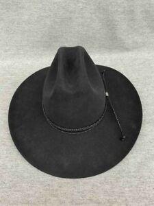 "Vintage John B. Stetson XXXX 4X Beaver Black Cowboy Size 7 5/8"" Long Oval"