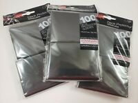 3x 100 Ultra Pro Standard Black Deck Protector Sleeves New Magic MTG and Pokemon