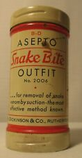 Vintage-1966-Advertising Tin-B D Asepto Snake Bite Outfit-New-Complete-Unuse d