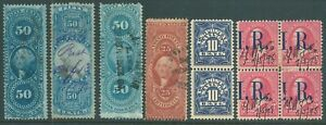 USA early used Revenue stamp collection (d)