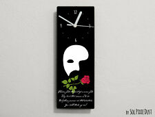 Phantom of the Opera Quotes - Flowers fade, the fruit of summer ... - Wall Clock