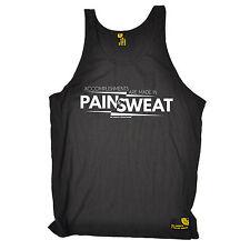 Logros hechos en el dolor sudor SWPS Unisex Chaleco Regalo de Cumpleaños Gimnasio Fitness