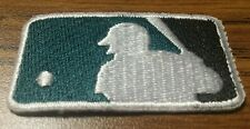 """MLB Logo Patch Embroidery Forest Green / Black Baseball (1"""" x 1.75"""") Iron On"""