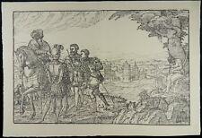 HOLZSCHNITT MELCHIOR LORICHS SCHUSS AUF DEN VATER GESTA ROMANORUM 1551 I35