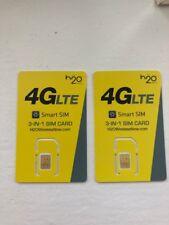 2 US USA H20 4G LTE 3IN1 TARJETA SIM FUNCIONA USA mayor red ATT llamadas Gratis a Reino Unido