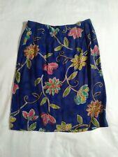 Purple green pink yellow orange Flower skirt pine cove rayon