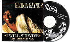 CD CARDSLEEVE CARTONNE PICTURE COLLECTOR GLORIA GAYNOR I WILL SURVIVE UK REMIX