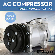 "A/C Compressor For SD508 Sanden Style V-Belt 2 Groove Pulley 3/4"" 7/8"" AC"