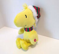 Gemmy Peanuts Woodstock Musical Plush We Wish You A Merry Christmas 12""