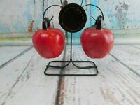 Vintage Hanging Fruit Red Apples Salt & Pepper Shakers