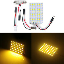 2x Car 48SMD Warm White LED Light Panel T10 Festoon Ba9s Dome Map Interior Bulbs