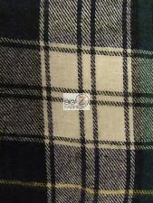 "TARTAN PLAID UNIFORM APPAREL FLANNEL FABRIC Blue/Green/White 60"" BY THE YARD 2"
