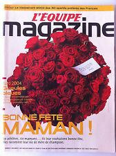 L'Equipe Magazine du 5/06/2004; Classement des sportif préférés des français
