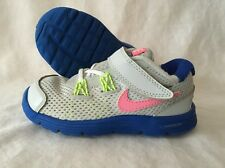 Nike Lunarglide 4 Shoes Baby Toddler Size 7C Blue Gray Pink