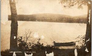 Lake Spoffard, Spoffard NH RPPC 1916 Vintage Postcard PBA