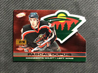 2001-02 PACIFIC ATOMIC PASCAL DUPUIS ROOKIE PREMIERE DATE RED DIE-CUT #ed 27/90