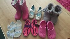 Girl Size 10 Shoe Bundle Kids Party Wellies With Lights Winter Summer