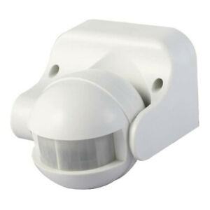 Sensor Detector PIR 180 Degree Motion Switch Outdoor Security IP44 in White