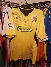 Liverpool Football Shirt 2004/05 USA Tour Away Large ~ Kewell 7