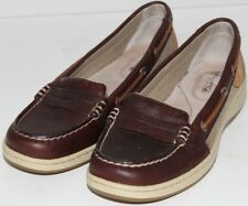 WOMEN SHOES SPERRY Top Sider LOAFERS Size 6.5M BROWN NEW