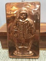 Vintage Copper Metal Chocolate Mold Wall Hanging Dutch Man or Boy Made In Korea