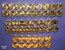2000 - 2018 Sacagawea Native American 50 Coin PD BU & Satin US Mint Roll Set