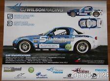 2013 CJ Wilson Racing Mazda MX-5 ST Daytona CTSC postcard
