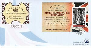 Ascension Island 2013 FDC Coronation Commemoratives 1v S/S Cover Queen Elizabeth