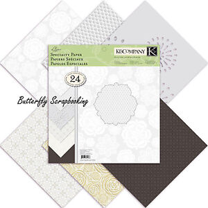 Wedding Elegance Specialty 12X12 Scrapbooking Paper Pad K&Company 24 Sheets NEW