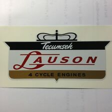 "Tecumseh Lauson engine Decal 1960 Crown 4 Cycle Small 3"" 2 for 1 price"