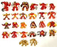 "CHOOSE: Gormiti Magma/Lava Tribe PVC Figurines 1.5 to 2.5"" People of the Volcano"
