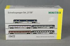 """TRIX Minitrix 15473 [Spur N] 5-teiliges Schnellzugwagen-Set """"D 730"""" - NEUWARE!"""