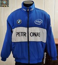 BMW Petronas O/2 Formula 1 Mock Neck Full Zip Blue Fan Race Jacket Sz 2XL